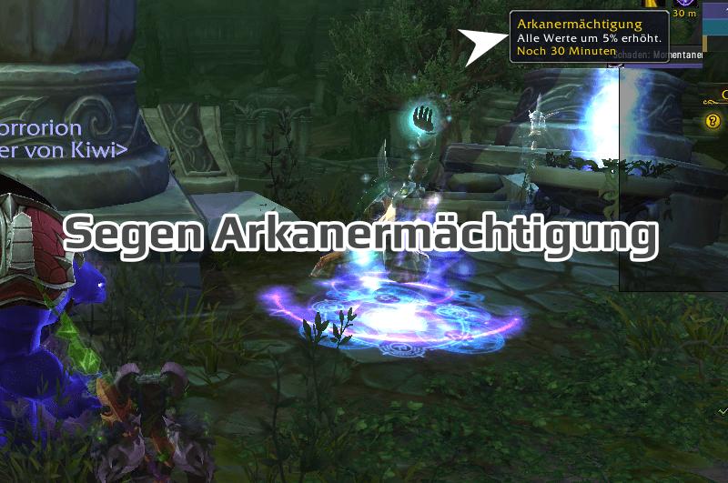 Segen Arkanermächtigung in Azsuna bei Legionsangriffen