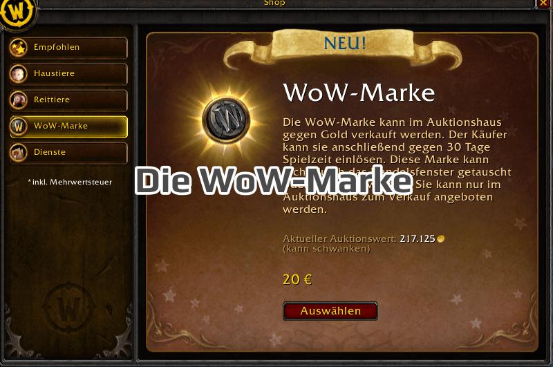 Die WoW-Marke
