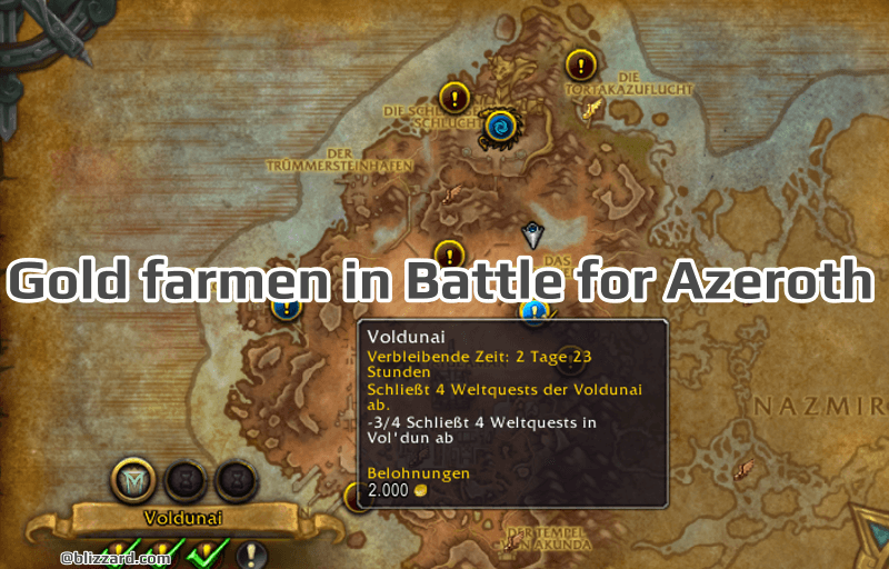 Gold farmen in Battle for Azeroth