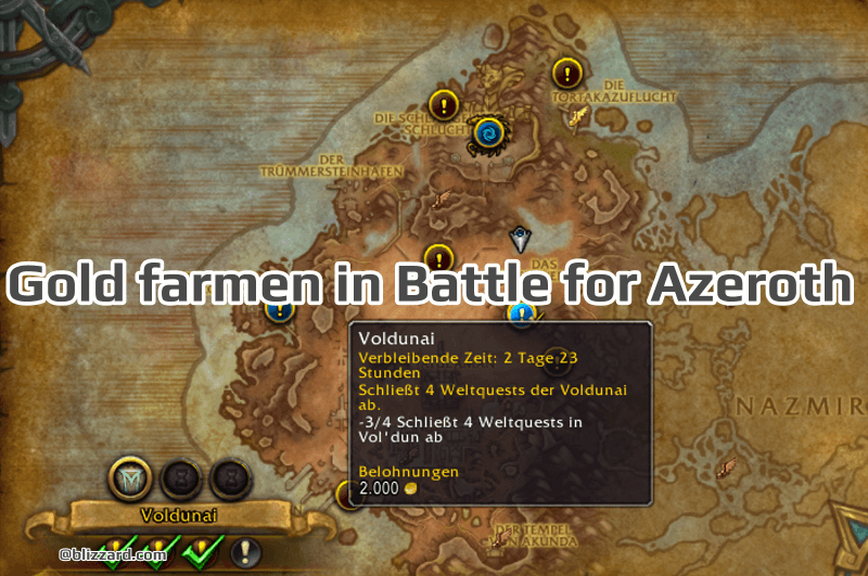 Gold farmen in Battle for Azeroth