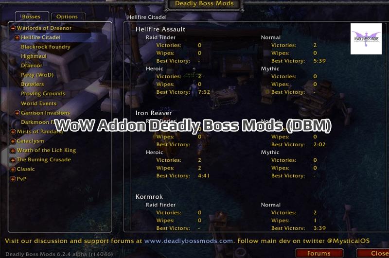 WoW Addon Deadly Boss Mods (DBM)