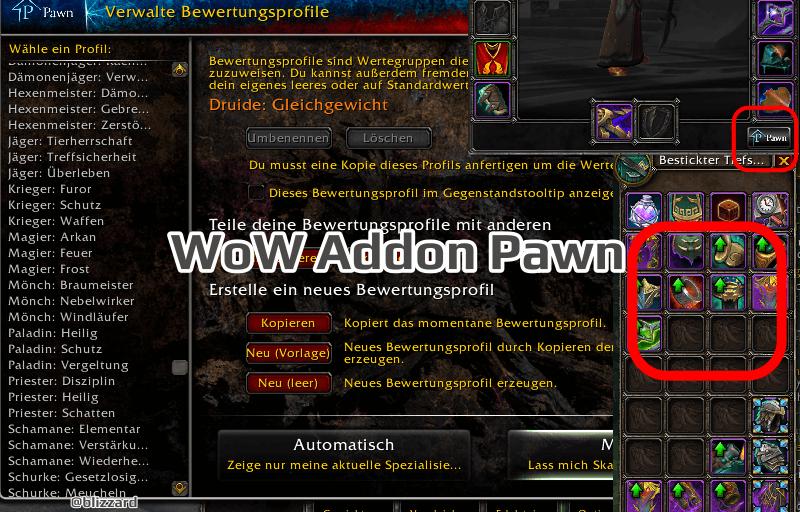 WoW Addon Pawn