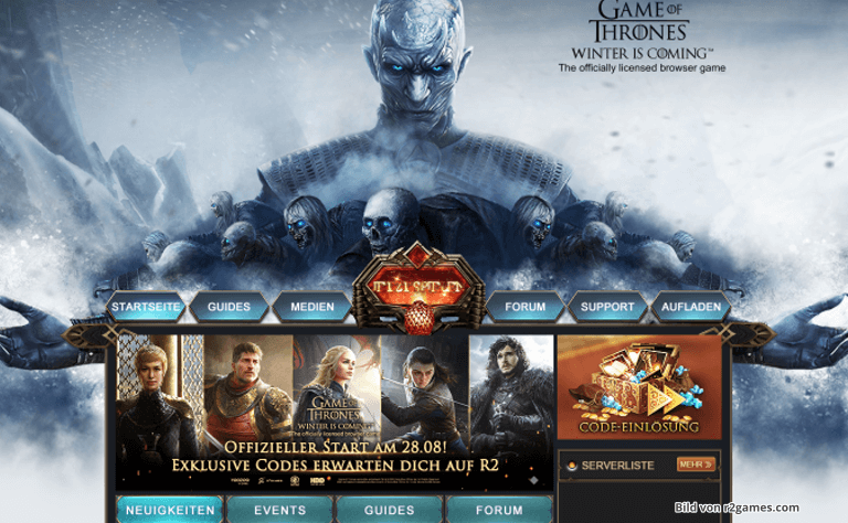 GAME OF THRONES WINTER IS COMING™ STARTET AUF R2GAMES